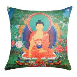 DD - Buddha Outdoor Pillow - Experience a sense of zen and serenity with this Buddha outdoor pillow.