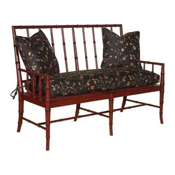 EuroLux Home - New Regency Style Settee Faux Bamboo - Product Details