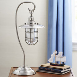 Fisherman Table Lamp - Add a nautical look to a room without having to hire an electrician. This lamp takes up little table space so it can fit almost anywhere.