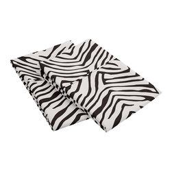 """Microfiber 1800 Animal Print Pillowcase Set - Standard - Black - These Microfiber Pillowcase Sets offer an affordable alternative to high thread count Egyptian Cotton Pillowcases. Microfibers are 100 times thinner than a strand of hair making the weave impenetrable to allergens and dust mites. These pillowcase sets features an amazing array of animal prints which are available in several different variations. Set includes: Two Pillowcases(20""""x30"""")."""