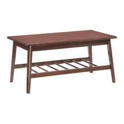 Zuo Modern Contemporary, Inc. - Aventura Coffee Table Walnut - The Aventura Table is made from solid rubberwood with a warm walnut stain.  Simple and classic, this table has the ultimate retro feel.  Organize your space with the Aventura!