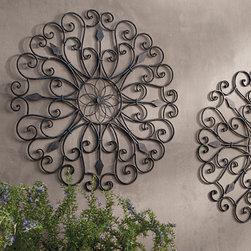 grandin road gracie iron wall art ornamental wall art. Black Bedroom Furniture Sets. Home Design Ideas