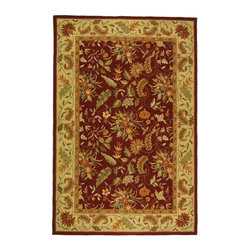 """Safavieh - Country & Floral Chelsea 2'6""""x4' Rectangle Red Area Rug - The Chelsea area rug Collection offers an affordable assortment of Country & Floral stylings. Chelsea features a blend of natural Red color. Hand Hooked of Wool the Chelsea Collection is an intriguing compliment to any decor."""