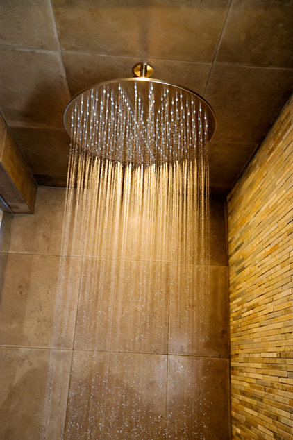 Contemporary Showers by Blu Bathworks