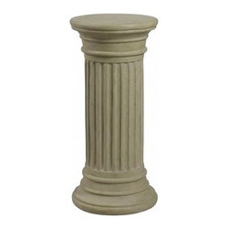 Kenroy Home - Kenroy Home Fluted Column Garden Sandstone Finish - 60084 - Inspired by the dunes, the soft coastal color complements the fluted column that is at home at the shore or in the country. Indoors or out, this decorative pedestal is sure to be a welcome addition to any decor.
