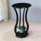 Round Plant Stand with Curved Legs - The Round Plant Stand with Curved Legs is the perfect ornamental or plant display for any vacant space in your home. Bring amazing style and stylish mood to your hall or living room with this plant stand.
