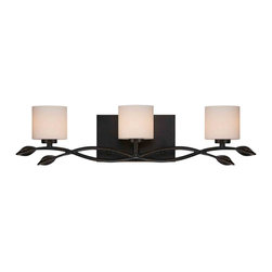 Quoizel Lighting - Quoizel ERN8603IB Erin Imperial Bronze 3 Light Vanity - 3, 60W Frosted G9 Halogen, Bulbs Included