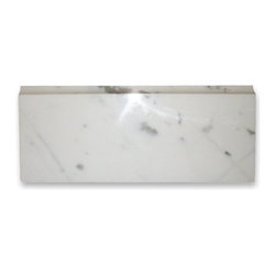 "Stone Center Corp - Calacatta Gold Marble Baseboard Trim Molding 5x12 Polished - Calacatta gold marble baseboard molding 5"" width x 12"" length x 3/4"" thickness"