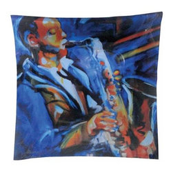 WL - Blue Jazz Sax Musician Playing Saxophone Square Dinner Plate Dishware - This gorgeous Blue Jazz Sax Musician Playing Saxophone Square Dinner Plate Dishware has the finest details and highest quality you will find anywhere! Blue Jazz Sax Musician Playing Saxophone Square Dinner Plate Dishware is truly remarkable.