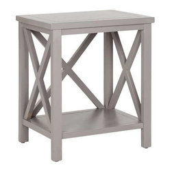 Safavieh Candence Cross-Back End Table, Gray - You can never go wrong with an X-leg design. I love the clean lines of this traditional piece.