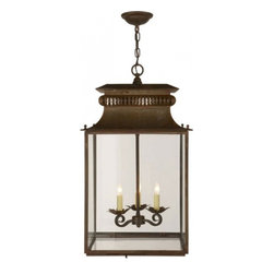 English Traditions - Honore Lantern - Honore Lantern in Antique Zinc Finish