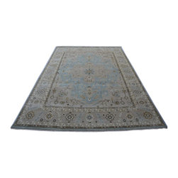Oushak with Serapi Design Rug, 10x14 Hand Knotted 100% Wool Oriental Rug SH14223 - Hand Knotted Oushak & Peshawar Rugs are highly demanded by interior designers.  They are known for their soft & subtle appearance.  They are composed of 100% hand spun wool as well as natural & vegetable dyes. The whole color concept of these rugs is earth tones.