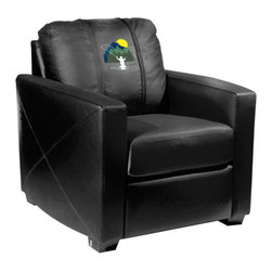 Dreamseat Inc. - Fisherman - Fly Xcalibur Leather Arm Chair - Check out this incredible Arm Chair. It's the ultimate in modern styled home leather furniture, and it's one of the coolest things we've ever seen. This is unbelievably comfortable - once you're in it, you won't want to get up. Features a zip-in-zip-out logo panel embroidered with 70,000 stitches. Converts from a solid color to custom-logo furniture in seconds - perfect for a shared or multi-purpose room. Root for several teams? Simply swap the panels out when the seasons change. This is a true statement piece that is perfect for your Man Cave, Game Room, basement or garage.