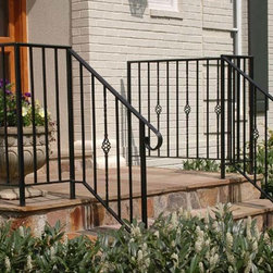 Custom Wrought Iron Handrail - Designed and built by Land Art Design, Inc.