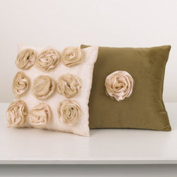 Cotton Tale Designs - Lollipops & Roses Pillow Pack - A quality baby bedding set is essential in making your nursery warm and inviting. All N. Selby patterns are made using the finest quality materials and are uniquely designed to create an elegant and sophisticated nursery. Part of the Lollipops & Roses Bedding set this pillow pack features two pillows(each measuring 12x12). One of brown velvet adorned with one rose in the center of the pillow while the other pillow features nine roses on a pink pillow. Cotton poly blend with a poly fill. Can be used together or separate. Pillows are for decorative purposes and should never be used in the crib. Spot clean only. Perfect for your special girl.