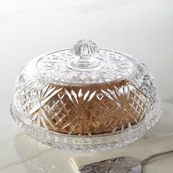 "Horchow - Dublin Covered Pie Dome - Dressed in a diamond- and wedge-cut motif, this elegant pie dome adds the perfect finishing touch to serving dessert. Made of lead crystal. Hand wash. 12""Dia. x 7""T. Imported."