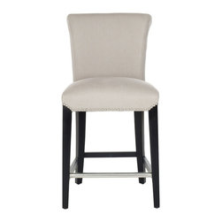 Safavieh - Safavieh Seth Bar Stool X-B0154RCM - The clean lines of the Seth Bar Stool make it just right for any home traditional to contemporary. Featuring a solid birch wood frame with a deep brown finish, Seth offers comfortable seating at the just right height of 30 inches.