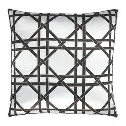 Over Under Wicker Weave Throw Pillow