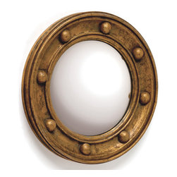 Titanic Mirror - Give a vintage feel to your surroundings with this ingenious Titanic Mirror. It is from our Antique European country collection and features a round shape adorned with an engraved design on the borderline. The mirror perfectly exudes old world charm coupled with sturdy make and shiny finish.