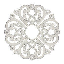 uDecor - MD-7099 Ceiling Medallion - Ceiling medallions and domes are manufactured with a dense architectural polyurethane compound (not Styrofoam) that allows it to be semi-flexible and 100% waterproof. This material is delivered pre-primed for paint. It is installed with architectural adhesive and/or finish nails. It can also be finished with caulk, spackle and your choice of paint, just like wood or MDF. A major advantage of polyurethane is that it will not expand, constrict or warp over time with changes in temperature or humidity. It's safe to install in rooms with the presence of moisture like bathrooms and kitchens. This product will not encourage the growth of mold or mildew, and it will never rot.