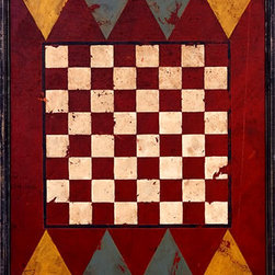 Red Horse Signs - Retro Vintage Game Board Sign 64 Checkered Squares - Retro  Vintage  Game  Board  Sign  -  64  Checkered  Squares    Hung  on  the  wall  or  laid  on  a  side  table,  this  retro  vintage  game  board  sign  adds  the  vintage  essence  of  a  time  gone  by.  Measuring  18x18  and  printed  directly  to  real  wood  with  all  the  knots  and  imperfections  of  weathered  wood,  this  piece  is  the  perfect  finishing  touch  for  rustic  rec  room,  log  home  or  cabin.  Please  allow  up  to  three  weeks  for  delivery.    Product  Specifications:        Rustic  Lodge  style    Finished  size:  18x18    Printed  directly  to  distressed  wood