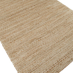 Jaipur Rugs - Naturals Solid Pattern Jute/ Cotton Taupe/Ivory Area Rug - Handwoven in Jute and soft fibers and materials like; Chenille, rayon yarn and cotton, the Himalaya collection has a variety of textures and looks, all at home in a variety of living environments. Origin: India