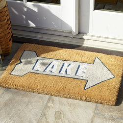 Lake Doormat - The lake is that-a-way! This is the quintessential doormat for your summer abode.