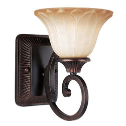 Maxim Lighting - Maxim Lighting Allentown Traditional Wall Sconce X-IOSW11531 - Add the finishing touch to your home decor with this Maxim Lighting Allentown Traditional Wall Sconce. It has a simple backplate and gently scrolled arm in a rich and warm oil rubbed bronze finish that supports a shapely Wilshire glass shade. It's a fantastic piece that's sure to stand out in any room.
