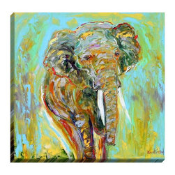 "DiaNoche Designs - Elephant Illuminated Wall Art - Illuminated Wall Art by Dianoche Designs, brings continuous art 24 hours a day. Art during the day... flip a switch, and at night, it is a light! Art by Karen Tarlton - Elephant. Dianoche Designs illuminates artwork from behind using LED's designed to last 50,000 hours. The ""Art Today, Light Tonight"" concept gives each customer an opportunity to enjoy their artwork 24 hours a day! Dianoche Designs uses images from artists all over world and literally ""Brings to Light"" their astonishing works. Your power cord can be hidden by a simple cable organizer or cable raceway, that commonly hides speaker wire on a wall. This can be purchased at any home improvement store and you can also paint over it."
