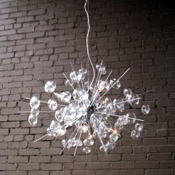 Bubbles Glass Modern Chandelier Solaria Large Light Dining Room Lighting Ceiling
