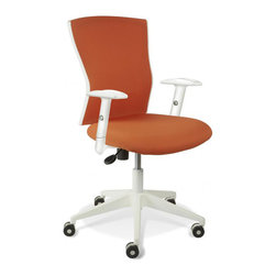 Jesper Office Furniture - Sanne Orange Office Chair - Features:
