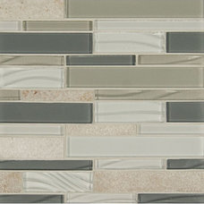 Shop Bedrosians 12-in x 12-in Intrigue Heather Grey Mosaic Subway Wall Tile (Act