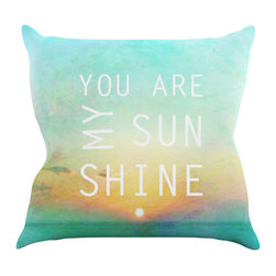 "Kess InHouse - Alison Coxon ""You Are My Sunshine"" Throw Pillow (26"" x 26"") - Rest among the art you love. Transform your hang out room into a hip gallery, that's also comfortable. With this pillow you can create an environment that reflects your unique style. It's amazing what a throw pillow can do to complete a room. (Kess InHouse is not responsible for pillow fighting that may occur as the result of creative stimulation)."