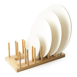 Bambooware - Expandable Bamboo Plate Rack 24 Ct - Bamboo is quickly emerging as an alternative resource to other types of wood. In the past people intuitively used it as a basic material for making many different household objects and small structures. However ongoing research and engineering efforts are enabling us to realize bamboo??????s true value as a renewable versatile and a readily-available resource