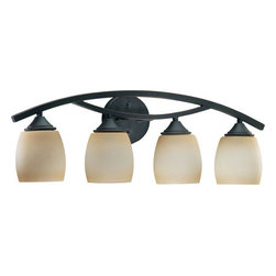 "Quorum International - Quorum International Q5030-4 4 Light 26.5"" Wide Bathroom Fixture from the Vaniti - 4 Light Vanity6"" (Extension)Bulbs: (4) 100W Medium Base[5030 series vanities match the 5430 series wall mounts]"