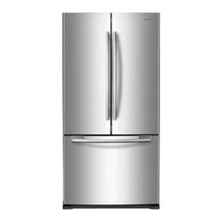 "Samsung - RF197ACRS 33"" 17.8 cu. ft. Counter-Depth French Door Refrigerator with 3 Adjusta - The Samsung Appliance RF197AC 178 Cu Ft French door refrigerator in stainless steel keeps your food fresher longer with Twin Cooling technology Ice maker produces 4 lbs of ice per day Enjoy tremendous flexibility in food storage with large door bins ..."