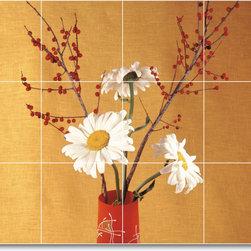 Picture-Tiles, LLC - Flower Photo Shower Tile Mural F077 - * MURAL SIZE: 18x24 inch tile mural using (12) 6x6 ceramic tiles-satin finish.