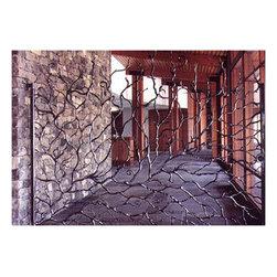 Steel and Wood Custom Gate - Steel and Wood Custom Gate by Bryan Tedrick. More at http://artmetallique.com/gates/