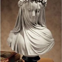 Design Toscano Inc 14H in. The Veiled Maiden Sculptural Bust - About Design ToscanoDesign Toscano is the country's premier source for statues and other historical and antique replicas, which are available through the company's catalog and website. Design Toscano's founders, Michael and Marilyn Stopka, created Design Toscano in 1990. While on a trip to Paris, the Stopkas first saw the marvelous carvings of gargoyles and water spouts at the Notre Dame Cathedral. Inspired by the beauty and mystery of these pieces, they decided to introduce the world of medieval gargoyles to America in 1993. On a later trip to Albi, France, the Stopkas had the pleasure of being exposed to the world of Jacquard tapestries that they added quickly to the growing catalog. Since then, the company's product line has grown to include Egyptian, Medieval and other period pieces that are now among the current favorites of Design Toscano customers, along with an extensive collection of garden fountains, statuary, authentic canvas replicas of oil painting masterpieces, and other antique art reproductions. At Design Toscano, attention to detail is important. Travel directly to the source for all historical replicas ensures brilliant design.