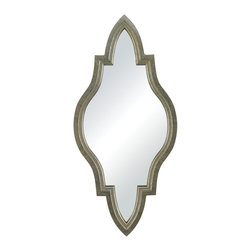 Sterling Industries - Jacarand Mirror in Silver Leaf with Light Antique Wash - Jacarand-Moroccan Inspired Mirror in Silver Frame by Sterling Industries
