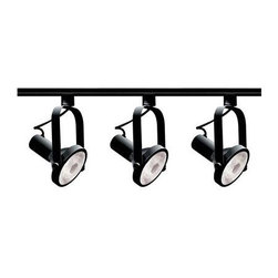 Nuvo - Nuvo Lighting 3-Light PAR30 Short Neck Gimbal Ring Track Light Kit,... - Nuvo Lighting 3-Light PAR30 Short Neck Gimbal Ring Track Light Kit, Black Founded in 1966, Satco is well known as a premier supplier of a variety of lighting products. The Satco brand includes light bulbs, electrical accessories, lighting hardware and glassware. Nuvo Lighting was launched by Satco in 2005. From the beginning, energy efficiency was the cornerstone of Nuvo Lighting's product development. Nuvo provides a unique combination of elegant and innovative designs, which are all energy star rated except the track kits. In 2009, Satco won the energy star partner of the year award. Our distinctive designer collections include Odeon, Lucern, Moulan, Rockport and Glenwood. Our exterior lighting is also energy star rated. In short the Nuvo brand has become synonymous with energy star. Nuvo Lighting track kits are designed for efficient use of light and energy, though they are not energy star rated. Each kit includes everything you need in one convenient package. Different models available in a choice of gimbal ring, bullet, straight cylinder, step cylinder, round back and square track heads, you can choose which design best fits your needs.Dimensions: 48″ x 4″ x 5.25″.   Weight: 5lbs.