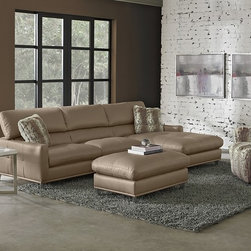 The Mystique Living Room Sectional Collection - Wild Kingdom. Whether stretching out after a long day or curling up for an afternoon cat nap, our Mystique collection appeals to your most basic need for comfort. Multi-position headrests, smooth bonded leather and fashion-forward accents make this unique collection perfect for your habitat. Double-needle stitching shows attention to detail, while ultra-soft faux-fur toss pillows in a cool cheetah print provide extra special comfort and on-trend flair. Curved chrome feet add a highly stylized touch to the sleek look.