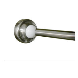 Rotator Rod - Brushed Nickel Rotator Rod, The Curved Shower Rod That Rotates, White, Standard, - Expand your shower AND bathroom space without remodeling or moving with the Rotator Rod -- the curved shower rod THAT ROTATES! The Rotator Rod offers you the luxury of a standard curved shower curtain rod in the shower, then rotates into the tub -- and out of your way -- while you use the rest of the bathroom! The Rotator Rod is the perfect fix for small bathrooms, rental spaces, or people who like options, all with No Drilling Required!