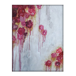 Original Abstract Flower Floral Acrylic Contemporary Painting on Textured Canvas - Each painting is unique and hand painted.  Design might slightly vary.