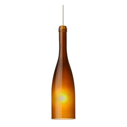 Besa Lighting - Besa Lighting | Botella 12 Low Voltage Pendant Light - Design by Besa Lighting.The Botella 12 Low Voltage Pendant Light is inspired by the timeless and cherished fermented grape beverage. The fully saturated amber, green, blue and white frosted finishes turn the classically shaped wine bottles into a work of art. Provides ambient, diffused illumination.Features:
