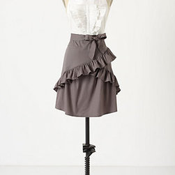 Trousseau Apron - WOW. Is this a skirt or an apron? Love it. The design is very cute and the gray and white makes it very elegant. Adorable!