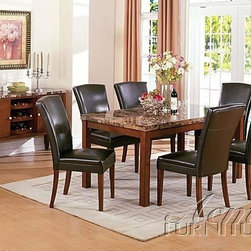 Acme Furniture - Newport 7 Piece Dining Set - 9490B-9493A-7set - Includes Table and 6 Side Chairs