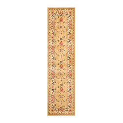 """Safavieh - Rowland Rug, Beige / Cream 2'3"""" X 8' - Construction Method: Power Loomed. Country of Origin: Turkey. Care Instructions: Vacuum Regularly To Prevent Dust And Crumbs From Settling Into The Roots Of The Fibers. Avoid Direct And Continuous Exposure To Sunlight. Use Rug Protectors Under The Legs Of Heavy Furniture To Avoid Flattening Piles. Do Not Pull Loose Ends; Clip Them With Scissors To Remove. Turn Carpet Occasionally To Equalize Wear. Remove Spills Immediately. The dramatic patterns of heirloom Serape, Sultanabad and Oushak rugs are recreated for 21st century lifestyles in the Austin Collection. Power-loomed of long-wearing, easy-care polypropylene, each rug stands up to heavy traffic while adding timeless beauty to entry hall, living room, kitchen and more."""