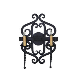 New Hand Made Iron Sconces - This handmade wrought iron sconce is part of our catalog collection of custom lighting.