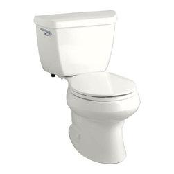 KOHLER - KOHLER K-3577-0 Wellworth 1.28 GPF Round-Front Toilet - KOHLER K-3577-0 Wellworth 1.28 GPF Round-Front Toilet with Class Five Flushing Technology and Left-Hand Trip Lever in White